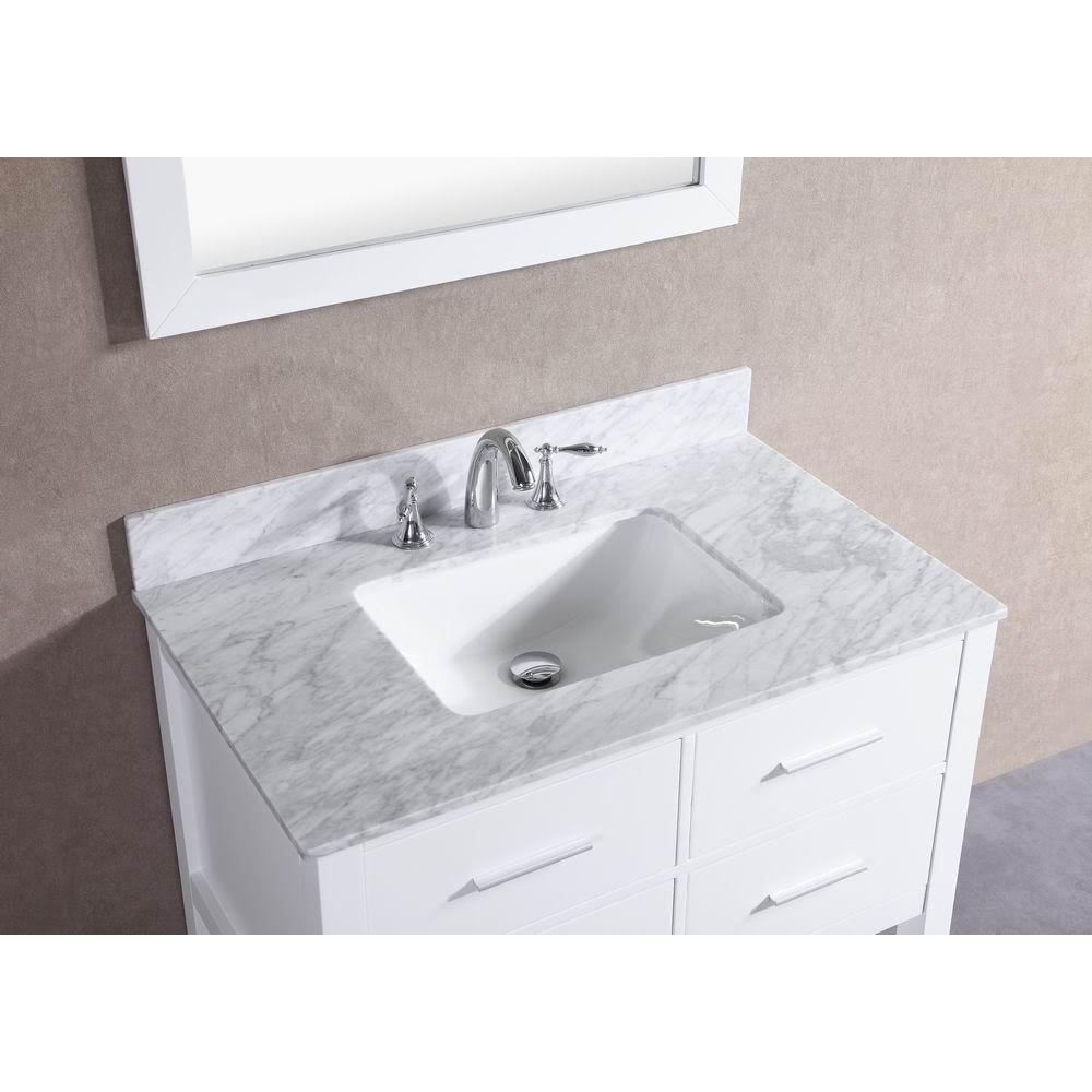 bathroom color vanity antique inch marble carrara white h top