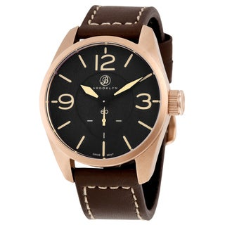 Lafayette Men's Rose Gold-tone Brown Leather Watch