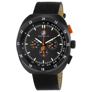 Floyd Men's Black Stainless-steel/Fabric Multifunction Watch