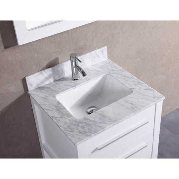 24 Bathroom Vanity With Backsplash 24-inch belvedere white bathroom vanity with marble top and