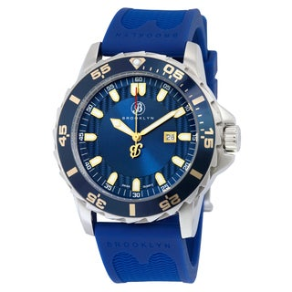 Waterbury Sports Blue Rubber/Stainless Steel Analog Watch