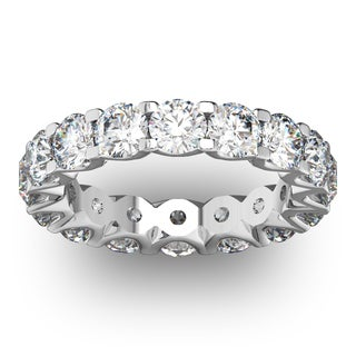 14 Karat White Gold 4 Carat Diamond Eternity Ring