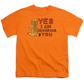 Garfield/Yes I Am Short Sleeve Youth 18/1 in Orange