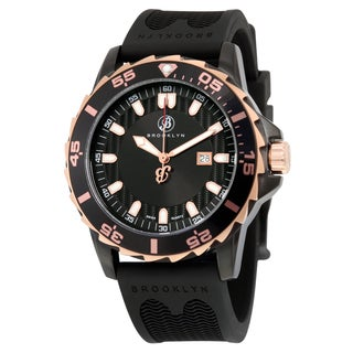 Waterbury Sports Diver Black Stainless SteelDial Watch
