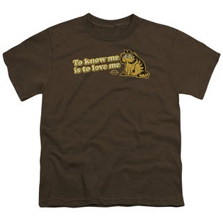 Garfield/To Know Me Is To Love Me Short Sleeve Youth 18/1 in Coffee