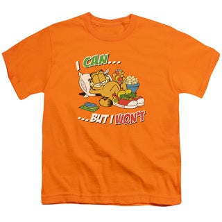 Garfield/I Can... Short Sleeve Youth 18/1 in Orange