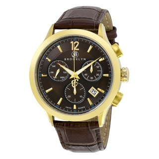 Brooklyn Watch Co. Dakota Swiss Quartz Chronograph Brown Dial Men's Watch