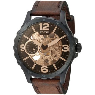 Fossil Men's ME3127 'Nate' Automatic Brown Leather Watch