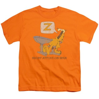 Garfield/Attention Span Short Sleeve Youth 18/1 in Orange