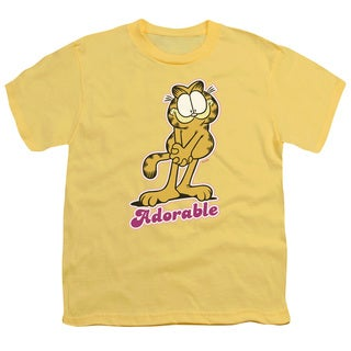 Garfield/Adorable Short Sleeve Youth 18/1 in Banana