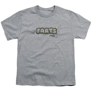 Farts Candy/Finger Logo Short Sleeve Youth 18/1 Athletic Heather