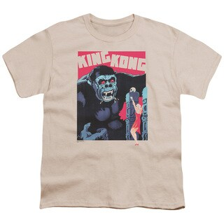 King Kong/Bright Poster Short Sleeve Youth 18/1 Cream