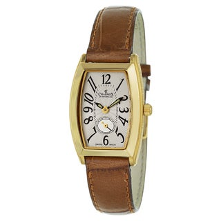 Charmex Women's Stainless Steel and Leather Swiss Quartz Watch