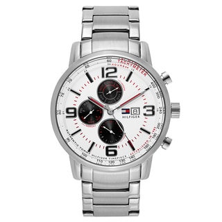 Tommy Hilfiger Men's Silvertone Stainless Steel Quartz Watch