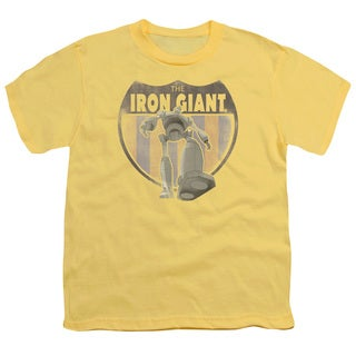 Iron Giant/Patch Short Sleeve Youth 18/1 in Banana
