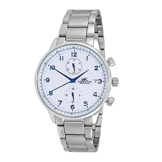 Adee Kaye Men's Silvertone All Stainless Steel Regulated Time Zone Design Watch (Option: White)|https://ak1.ostkcdn.com/images/products/12803061/P19572939.jpg?impolicy=medium