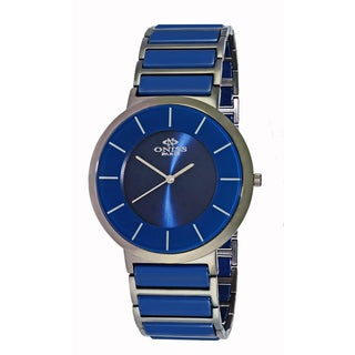 Oniss Paris Men's Slim Stainless-steel/Ceramic Swiss Watch