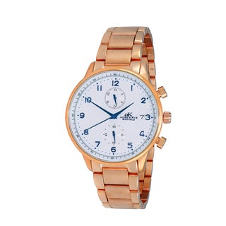 Design by Adee Kaye Men's All Stainless Steel with Regulated Time Zone Watch