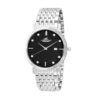 Adee Kaye Beverly Hills Men's Stainless Steel and Crystal Swiss Quartz Watch|https://ak1.ostkcdn.com/images/products/12803131/P19573220.jpg?_ostk_perf_=percv&impolicy=medium