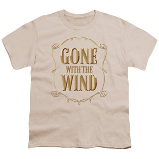 Gwtw/Logo Short Sleeve Youth 18/1 in Cream
