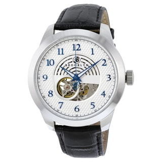 Brooklyn Watch Co. Carlton Skeleton Silver Automatic Dial Watch