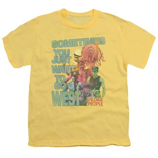 Village People/West Short Sleeve Youth 18/1 in Banana