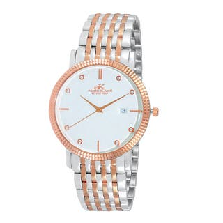 Adee Kaye Men's Swiss Stainless Steel Rose-tone Crystal Watch|https://ak1.ostkcdn.com/images/products/12803187/P19573227.jpg?impolicy=medium