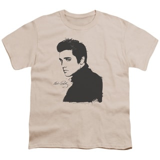 Elvis/Black Paint Short Sleeve Youth 18/1 Cream