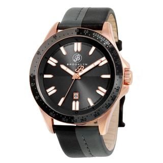 Brooklyn Watch Co. Florence Men's Florence Shaded Black/ Rosetone Casual Watch