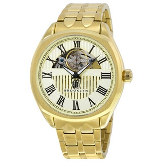 Brooklyn Watch Co. Dunham Skeleton Men's Ivory Stainless Steel Automatic Dial Watch