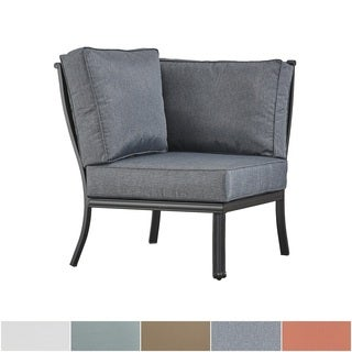 Matira Metal Outdoor Modern Cushioned Sectional Corner Chair iNSPIRE Q Oasis