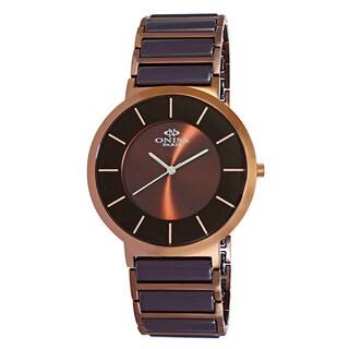 Oniss Paris Men's Brown Stainless Steel and Ceramic Slim Swiss Quartz Watch https://ak1.ostkcdn.com/images/products/12803328/P19573251.jpg?_ostk_perf_=percv&impolicy=medium