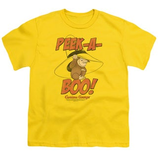 Curious George/Peek A Boo Short Sleeve Youth 18/1 in Yellow
