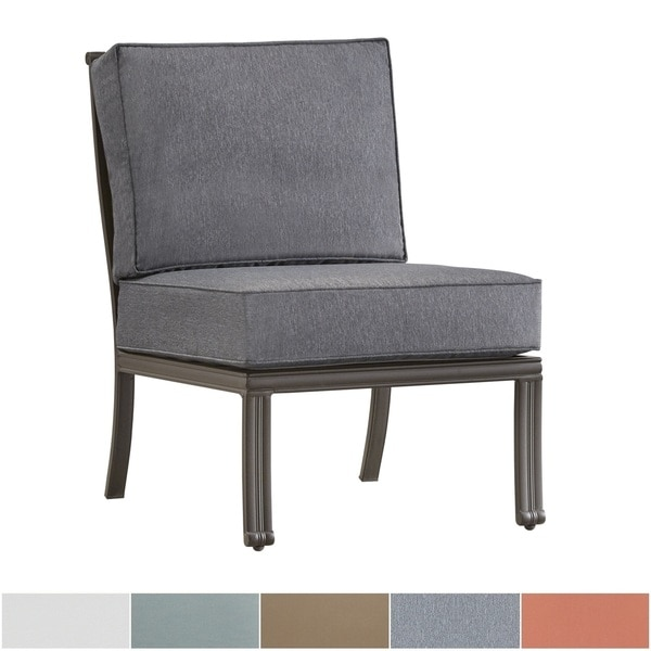 Matira Metal Outdoor Modern Cushioned Sectional Middle Chair iNSPIRE Q Oasis