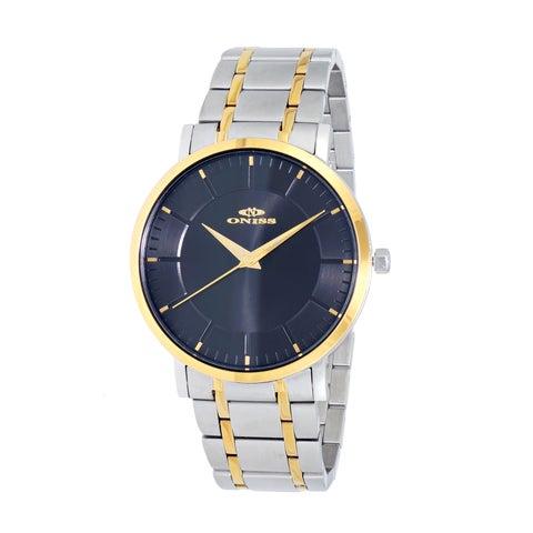 Oniss Paris Men's Silvertone/Gold-tone Stainless Steel Watch