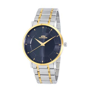 Oniss Paris Men's Silvertone/Gold-tone Stainless Steel Watch|https://ak1.ostkcdn.com/images/products/12803360/P19573256.jpg?impolicy=medium
