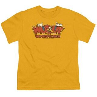 Woody Woodpecker/In Logo Short Sleeve Youth 18/1 Gold