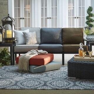 Matira Metal Outdoor Modern Cushioned Sofa iNSPIRE Q Oasis