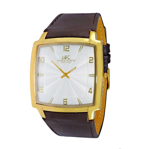 b7a4fc64c5 Shop Adee Kaye Beverly Hills Men s Brown Leather Watch - On Sale - Free  Shipping Today - Overstock - 12803404