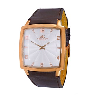 Adee Kaye Men's Multicolored Leather/Stainless Steel Swiss Watch
