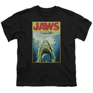 Jaws/Bright Jaws Short Sleeve Youth 18/1 in Black