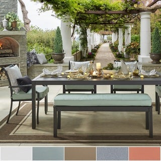 Matira Metal Outdoor 84-inch Rectangular Dining Set iNSPIRE Q Oasis