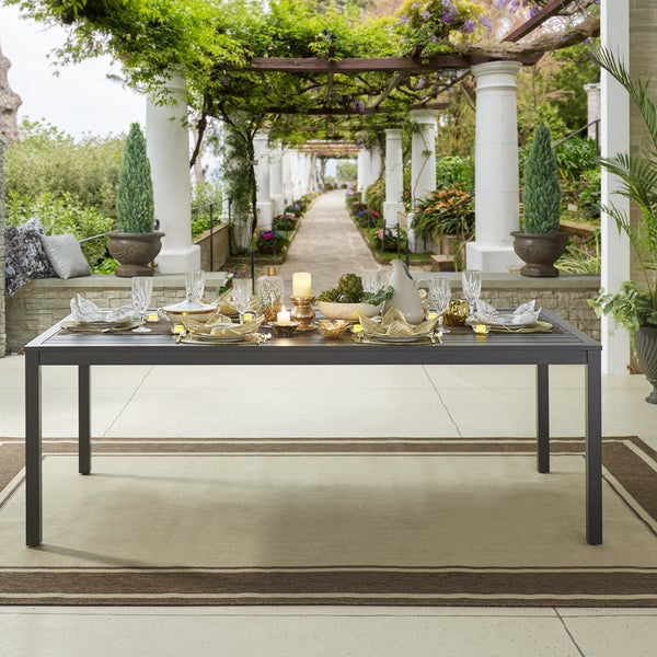 9 Outdoor Patio Kitchens For Party Perfect Entertaining: Shop Matira Metal Outdoor 84-inch Rectangular Dining Table