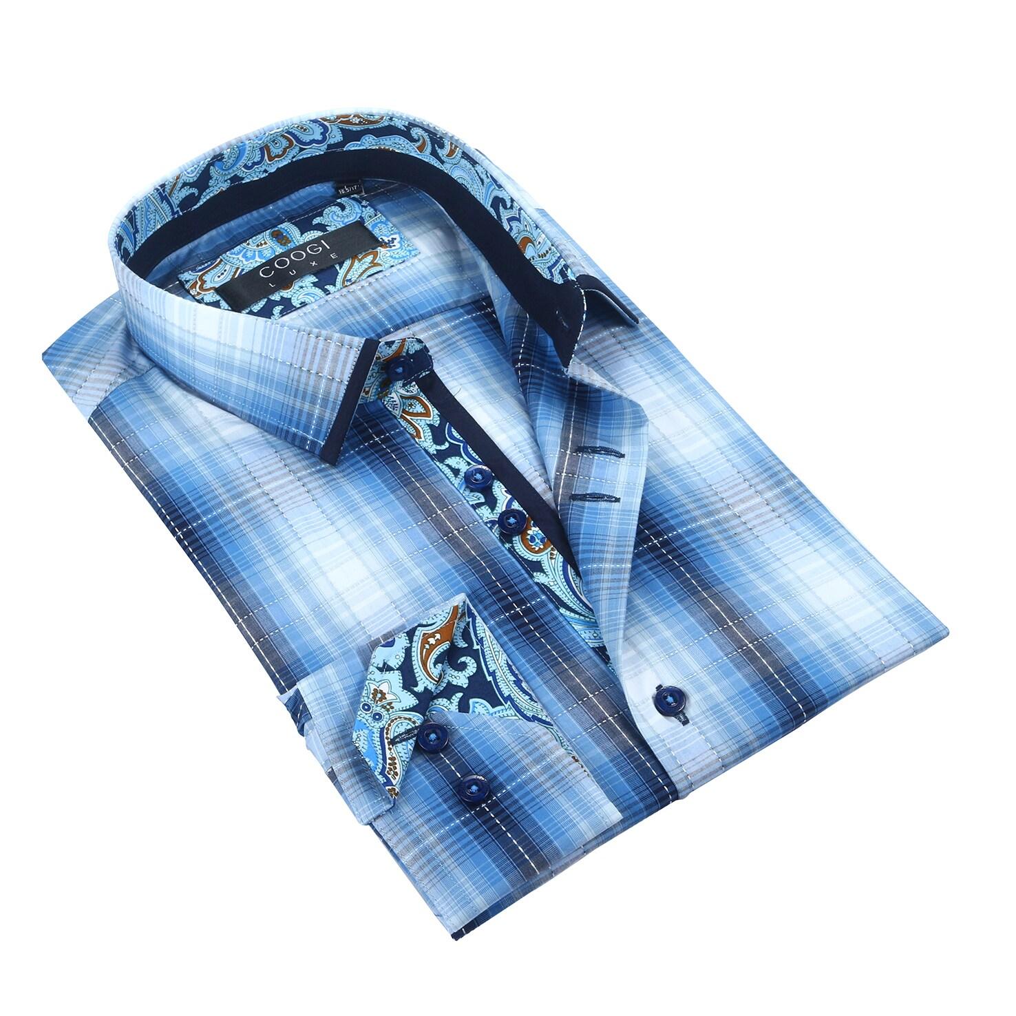 Coogi Mens White/Navy Dress Shirt (3XLarge), Size: 3XL, B...