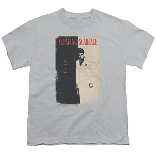 Scarface/Vintage Poster Short Sleeve Youth 18/1 Silver