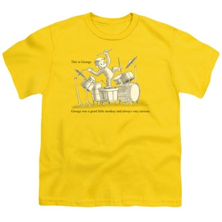 Curious George/This Is George Short Sleeve Youth 18/1 in Yellow