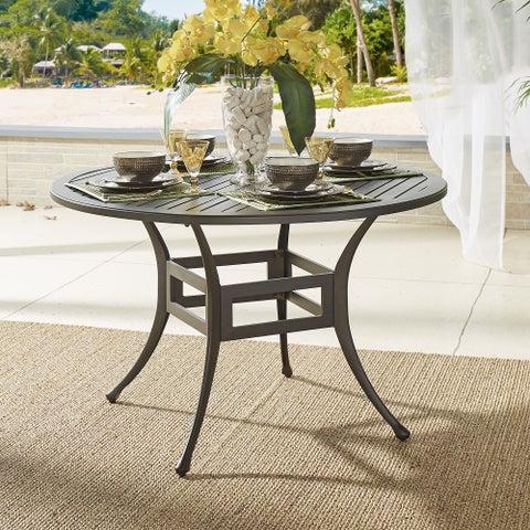 Matira Metal Outdoor Round Bistro Table iNSPIRE Q Oasis