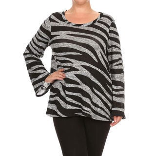 Women's Plus-sized Zebra Print Top