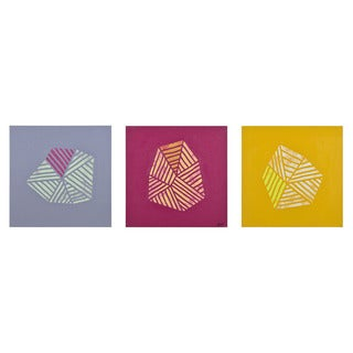 Renwil 'Cotorro' Unframed Abstrat Canvas Art (Set of 3)