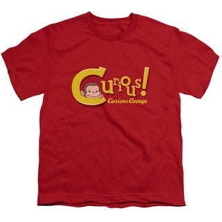 Curious George/Curious Short Sleeve Youth 18/1 in Red